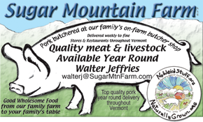 Sugar Mountain Farm Web Site Logo and Meat Label